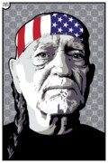Willie Nelson Posters - Just Willie  Poster by Jeff Nichol