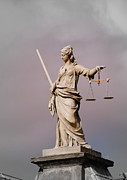 Sculpture Greeting Cards Posters - Justice Poster by Eva Ason