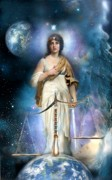 Tarot Paintings - Justice by Gloria Jean