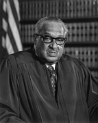 African Americans Prints - Justice Thurgood Marshall 1908-1993 Print by Everett