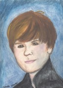 Justin Bieber Paintings - Justin Bieber by Carole Clark