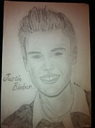 Justin Bieber Drawings Originals - Justin Bieber Drawing 2012 by Ronnie Pahima