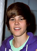 2000s Posters - Justin Bieber In Attendance For 2009 Poster by Everett