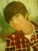 Justin Bieber Paintings - Justin Bieber by Mariah Payne