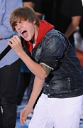 Justin Bieber Prints - Justin Bieber On Stage For Nbc Today Print by Everett