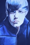 Photos Paintings - Justin Bieber Portrait by Mikayla Henderson