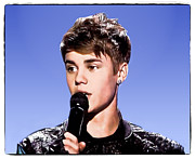 Susan Leggett Digital Art Metal Prints - Justin Bieber Metal Print by Susan Leggett