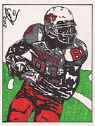 Rookie Drawings Prints - Justin Blackmon Print by Jeremiah Colley