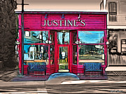 Michael Digital Art Posters - Justines Ice Cream Parlour Poster by Stephen Younts