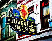 Juvenile Art  Metal Prints - Juvenile Shoe Store Metal Print by David Waldo