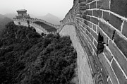 Great Wall Posters - Juyongguan gate on Great Wall of China Poster by Sami Sarkis
