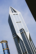Office Space Prints - JW Marriott Tower in Downtown Shanghai Print by Jeremy Woodhouse