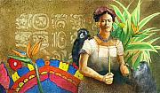 Frida Posters - K is for Kahlo... Poster by Will Bullas
