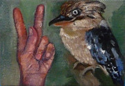 Asl Prints - K is for Kookaburra Print by Jessmyne Stephenson