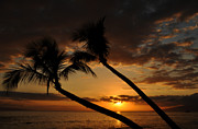 Tropical Sunset Prints - Kaanapali Beach Sunset Print by Kelly Wade