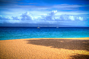 Lahaina Prints - Kaanapali Beach View Print by Kelly Wade