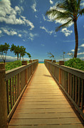 Postcard Art - Kaanapali Boardwalk by Kelly Wade