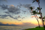 Lahaina Prints - Kaanapali Palm Sunrise Print by Kelly Wade
