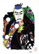 Graphic Arts Drawings Posters - Kabuki Nanbawan Poster by Roberto Prusso