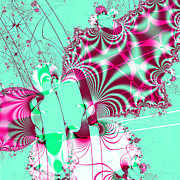 Colorful Fractal Art Art - Kabuki . Square by Wingsdomain Art and Photography