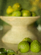 """indoor"" Still Life  Digital Art Metal Prints - Kaffir Limes Metal Print by Linde Townsend"