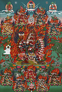 Thangka Paintings - Kagye Tsasum Tersar by Sergey Noskov