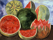 Watermelon Photo Framed Prints - Kahlo: Viva La Vida, 1954 Framed Print by Granger