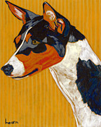 Pet Portraits Paintings - Kaidi Grand Champion by David  Hearn