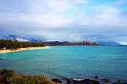 Kevin W. Smith Framed Prints - Kailua Bay Hawaii Framed Print by Kevin Smith