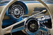 Classic Automobile Prints - Kaiser Dash Print by Dennis Hedberg