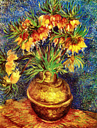 Bakery Art - Kaiserkronen in einer Kupfervase by Pg Reproductions
