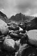 Black And White Photography - Kalalau Stream Black and White by Quincy Dein - Printscapes