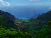 Kauai Prints Prints - Kalalau Valley 3 Print by Ken Smith