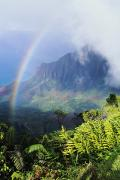 Kalalau Rainbow Framed Prints - Kalalau Valley Framed Print by Brent Black - Printscapes