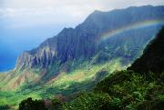 Kalalau Rainbow Framed Prints - Kalalau Valley Viewpoint Framed Print by Rita Ariyoshi - Printscapes