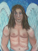 Angel Art Pastels Framed Prints - Kalani Framed Print by Coral Lee