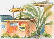 Burger Painting Prints - Kalapaki Beach Hut Print by Pat Katz