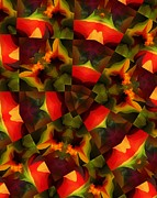 Modernism Prints - Kaleidoscop Abstraction 050712 Print by David Lane