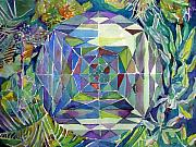 Optical Art Originals - Kaleidoscope  Garden by Mindy Newman