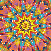 Buyart Framed Prints - Kaleidoscope Series Number 7 Framed Print by Alec Drake