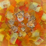 Gold Mixed Media Prints - Kaleidoscope  Print by Sveta Shved