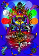 Of The Old School Metal Prints - Kali Yuga Metal Print by Eric Edelman