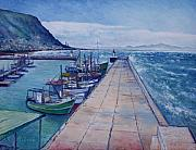 Enver Larney Art - Kalk Bay Jetty  Cape Town South Africa 2006  by Enver Larney