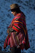 Highlands Photos - Kallawaya Medicine Man. Republic of Bolivia.  by Eric Bauer