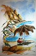 Relaxing Drawings - Kalymnos 2 by Therese Alcorn