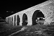 Spans Prints - kamares aqueduct larnaca republic of cyprus europe the aqueduct was built in 1750 by Bekir Pasha Print by Joe Fox