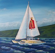Key West Paintings - Kamehameha by John Moon