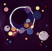 Modern Art Framed Prints - Kandinsky: Circles, 1926 Framed Print by Granger