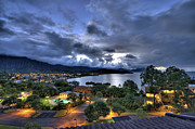 Hawaii. Prints - Kaneohe Bay Night HDR Print by Dan McManus