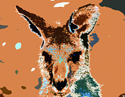 Kangaroo Digital Art Metal Prints - Kanga Roo Metal Print by David Lee Thompson